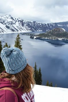 Things to do and see in Crater Lake National Park. Oregon's only national park! Crater Lake National Park, National Parks, Visit Oregon, Things To Do, Scenery, Wanderlust, Winter, Things To Make, Winter Time