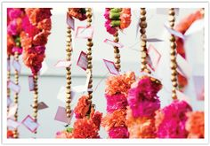 Hanging escort cards for a modern Moroccan wedding by Alchemy Fine Events