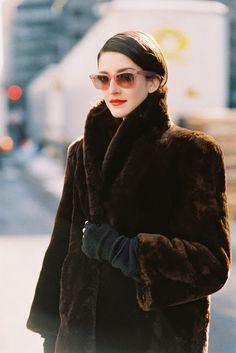 retro fur. #CrisHerrmann #offduty in NYC.