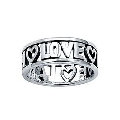 Silver ring: Live/Laugh/Love $20