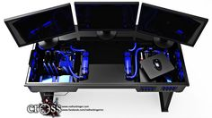 The Ultimate PC Gamer Desk Houses Your PC, A new name in the industry, Red Harbinger is looking to clear some desk space for itself in the cluttered world of PC gaming with a creation titled the Cross: a pristine desk that houses your PC beneath a glass surface.  http://www.gamefront.com/the-ultimate-pc-gamer-desk-houses-your-pc/