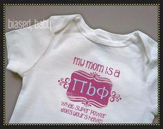 Cute baby Pi Phi shirt! #piphi #pibetaphi
