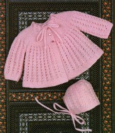 Babies Matinee Coat & Bonnet Knitting Pattern PDF Baby Girls or Boys 20 inch chest, Babys Jacket, Vintage Knitting Patterns for Baby Baby Sweater Patterns, Baby Cardigan Knitting Pattern, Knitting Wool, Coat Patterns, Vintage Knitting, Baby Knitting Patterns, Baby Patterns, Free Knitting, Crochet Cardigan