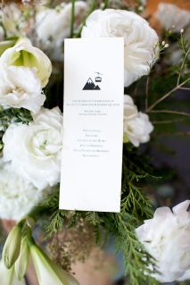 Cute theme for mountain wedding || Floral, Decor and Planning by Harvest Moon Events | Photo by Amy Lashelle