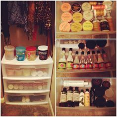 Organizing hair products  #naturalhair #curlyhair @CocoCurls www.youtube.com/mahoganycurls www.mahoganycurlsofficial.com twitter and Instagram @CocoCurls