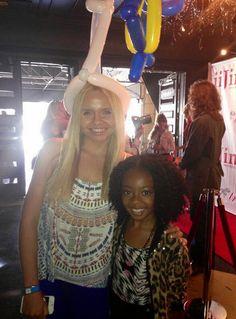 Dis411 Skai Jackson With Alli Simpson At The Juvenile Arthritis Association Event At The Sweet Suite
