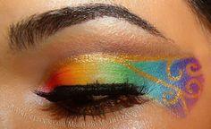 Golden Rainbow makeup
