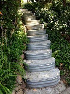 Gartentreppe selber bauen 35 inspirationen pinterest for Goldfischteich bauen