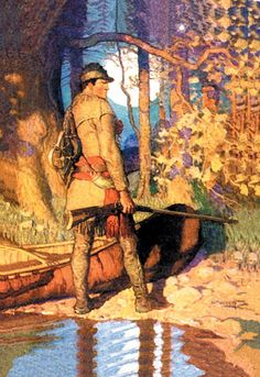 Hawkeye, by N.C. Wyeth