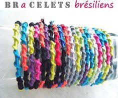 Bracelet Brésilien torsadé : TUTO