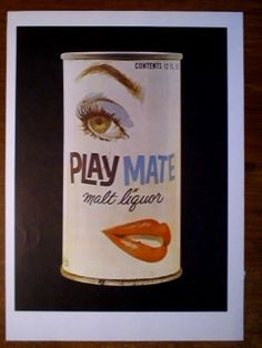PLAYMATE MALT LIQUOR SUNSHINE BREWING COMPANY BEER CAN MAGAZINE PRINT AD