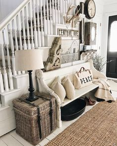 Gentil 2,636 Likes, 65 Comments   Liz Marie Blog (@lizmariegalvan) On Instagram: Foyer  BenchFarmhouse ...