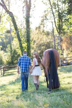 Ranch Engagement Session by Two Bird Studio. I just like how the horse is in the picture xD