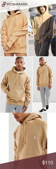 Champion x UO Reverse Weave Logo Taupe Holdie Brand new Champion Tops Sweatshirts & Hoodies