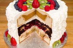 The Cherpumple is the desert version of the Turducken. It's a three-layer cake with a pie stuffed in each layer. YUM! Cherpumple is short for CHERry, PUMpkin and apPLE pie. The apple pie is baked in spice cake, the pumpkin in yellow and the cherry in white