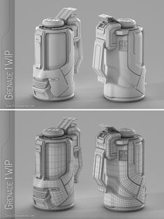 Sci-fi Grenade Modeling WIP by lordsme on DeviantArt Sci Fi Weapons, Weapon Concept Art, 3d Design, Game Design, Sub D, Polygon Modeling, Hard Surface Modeling, Sci Fi Models, Modeling Tips