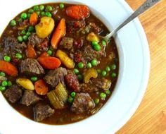 This hearty, paleo beef stew is full of vegetables.  It is comfort food you can feel good about eating!