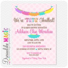 Tutu Baby Shower Invitations TemplatesBaby Gear and Baby Activity ...