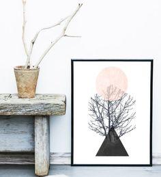 Art scandinave Art imprimable tirage d'Art abstrait par exileprints