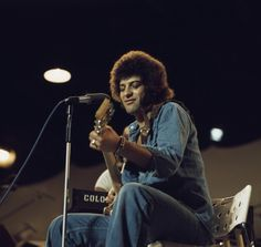 Ray Dorset British guitarist and singersongwriter during a live stage performance with his band Mungo Jerry circa 1970