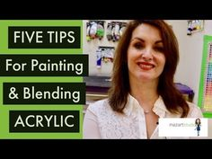 How to blend with Acrylic Paint - 5 TOP TIPS - Paint with Maz - YouTube