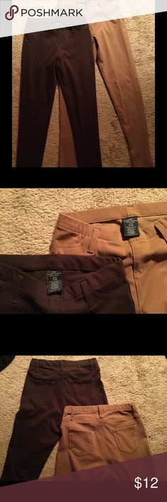 Leggings Brown and Tan Can be sold together or separate. Size S (4/6) Polyester Cotton Blend. Worn once.   2 for $12 Pants Leggings