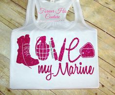 REPIN IF YOU LOVE A MARINE!   USMC Love racerback tank USMC Girlfriend by ForeverHisCouture