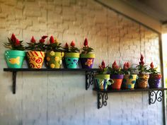 Hand Painted Flower Pots
