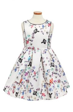 Pippa & Julie Orchid Print Satin Dress (Big Girls) available at #Nordstrom