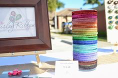 the Paisley Ribbon, craft show display, headband holder, craft show ideas, craft booth