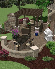 Patio U0026 Hardscape Accessory Plans Backyard Landscaping, Patio Gazebo,  Backyard Decks