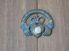 Verdigris Claddagh Doorbell by modelmaker2 on Etsy, $39.00