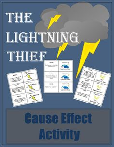 Whether you're reading The Lightning Thief as a read aloud or classroom book, your kids will have fun with this activity.  Cause and Effect can be a difficult concept for students to grasp. Get them out of their seats and moving as they practice cause and effect relationships.