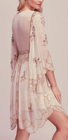 Beaded scallop dress