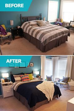 Matt and Adri loved their current bed but needed additional storage and wanted it to feel like home. The IKEA Home Tour Squad updated their bedroom with new bedding and curtains, plus BRIMNES 2-drawer chests for stylish nightstand storage!