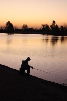 Fishing on Burke Lake with Grandpa