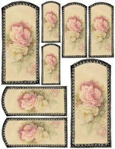Vanilla & Roses ~ gift tags