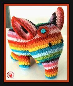 Crochet Elephant Pattern - ANNEMARIE'S CROCHET BLOG ♥ ANNEMARIE'S HAAKBLOG