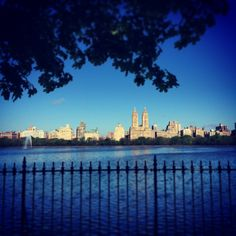Running around the reservoir in Central Park, NYC