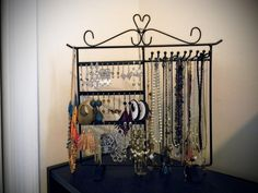 Bronze Jewelry Holder, Jewelry Stand for Earrings / Necklaces / Brecelets, Gift Idea - Jewelry Boxes
