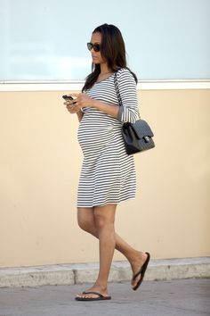 Zoe Saldana spotted wearing Isabella Oliver Elie Maternity Tunic Dress