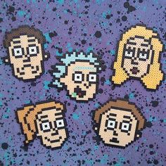 Rick and Morty perler beads by  jaynechains