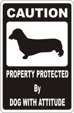 Dachshund Caution Sign