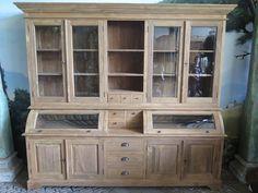 14455 Display cabinet - Teak wood 2.50 m