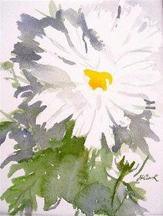 "Daily Paintworks - ""Michaelmas Daisy"" - Original Fine Art for Sale - © Judith Freeman Clark Watercolor Sunflower, Watercolor Flowers, Watercolor Paintings, Watercolors, Michaelmas Daisy, Sunflowers And Daisies, Fine Art Gallery, Landscape Art, Art Tutorials"