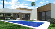 Impressive designer villa with a large terrace 380m2 and private swimming pool of 90m2 which can be built on the Costa Blanca North on a large plot of choice in the area Moraira-Jávea.-