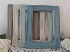 Beach Wedding Frame Rustic Shabby Chic Distressed 5 x 7 Picture Photo Table Number Decoration Country Christmas Home Decor Gift For Her Him. $6.99, via Etsy.