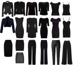 Minimalist Wardrobe- I don't know why this is so appealing to me right now. Probably because I am moving soon.