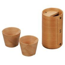 Kurikyu Odate Bentwood Sake Cup Set