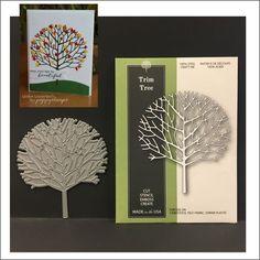 Trim Tree metal die - Poppystamps dies 1551 All Occasion,trees,leaves,branches #Poppystamps